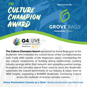 Culture Champion Award by Grove Bags